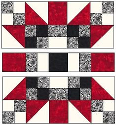 Sewing Block Quilts Love the complex look but simplicity of the process. Star Quilt Blocks, Star Quilts, Quilt Block Patterns, Pattern Blocks, Big Block Quilts, Hexagon Pattern, Scrappy Quilts, Black And White Quilts, Patriotic Quilts