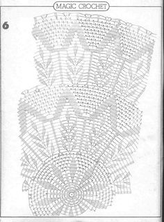 Magic Crochet Nº 16 - Edivana - Picasa Web Albums Crochet Tablecloth Pattern, Crochet Doily Diagram, Crochet Doily Patterns, Crochet Mandala, Crochet Chart, Thread Crochet, Filet Crochet, Crochet Motif, Crochet Doilies