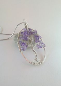 Tree of life, sterling silver amethyst