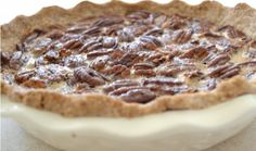 Best Pecan Pie Ever, NO gluten, no refined sugar, no dairy, and no soy!