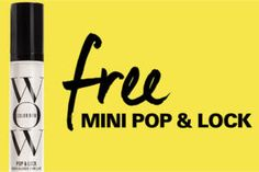 FREE Color Wow Mini Pop & Lock Hair Gloss on http://www.freebies20.com/