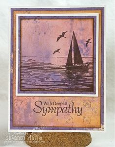 With Deepest Sympathy - by SLWhite - Cards and Paper Crafts at Splitcoaststampers Sympathy Greetings, Sympathy Cards, Deepest Sympathy, Sea Fish, Cool Sketches, Making Memories, Copics, Distress Ink, Happy Saturday