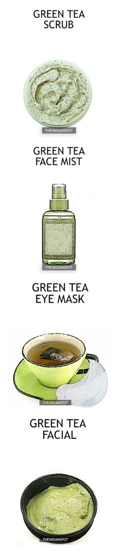 Amazing Beauty DIYs using Green Tea. Oooh that scrub looks so good! Homemade Skin Care, Homemade Beauty Products, Diy Skin Care, Organic Homemade, Lush Products, Skin Products, Makeup Products, Diy Beauty Face, Beauty Care