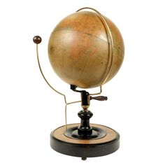 Moon Orrery Made circa Late 19th Century | From a unique collection of antique and modern globes at https://www.1stdibs.com/furniture/more-furniture-collectibles/globes/