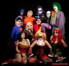 I'm guessing Brad = Superman, Janet = Black Canary, Dr. Scott = Flash, Magenta = Poison Ivy, Columbia = Harley Quinn, Dr. Frank N. Furter = The Joker, Riff Raff = The Penguin, and Rocky = Aquaman. But who are Batman, Wonder Woman and Mr. Freeze?