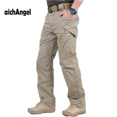 City Tactical Cargo Pants Men Combat SWAT Army Military Pants Cotton Many Pockets Stretch Flexible Man Casual Trousers XXXL – e-baying Tactical Cargo Pants, Tactical Clothing, Cargo Pants Men, Tactical Gear, Men Trousers, Mens Trousers Casual, Men Casual, Trouser Suits, Work Trousers