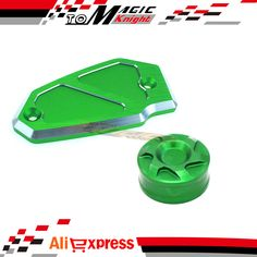 Free Shipping Motorcycle Accessories Front&Rear Brake Reservoir Cover Cap For KAWASAKI Z800 2012-2015 Green