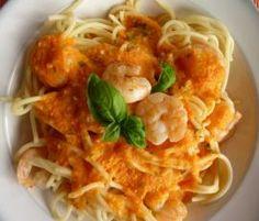 Spaghetti mit Paprikasoße und Garnelen von dani66 auf www.rezeptwelt.de, der Thermomix ® Community