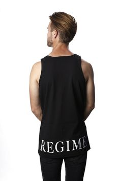bd50d46c6c9327 Civil Regime Bottom Print Tank (Black)- Mens  mensfashion  civilregiem   civilclothing  paperalligator