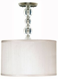 I love this drum shade....might want do a mini chandelier but love this clean look.