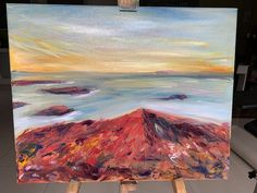 Original Oil painting Iceland - Volcano - One Off Mount Laurel, First Off, Watercolor Sunset, Lava Flow, Yellow Eyes, Stonehenge, Frame Shop, Paintings For Sale, Beautiful Paintings