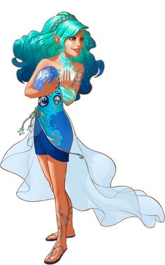 Naida Riverheart - She is a water elf who is adventurous, wise and quite powerful for her age