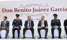 Realizan Ceremonia Cívica del 208 Aniversario del Natalicio de Benito Juárez