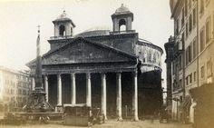 Italy Roma Pantheon Old CDV Photo 1870