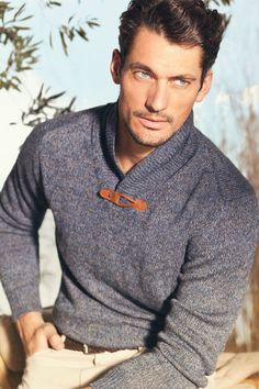 Sweater w/ leather latch.