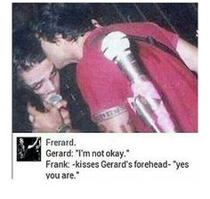 I FLIPPING LOVE THEIR BROMANCE/ROMANCE (you can tell I ship frerard)