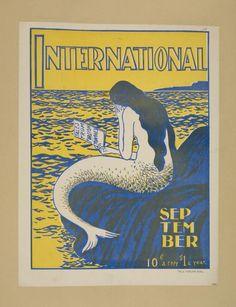 Image and text courtesy NYPL Digital Gallery. Mermaid Images, Mermaid Art, Mythical Creatures, Sea Creatures, Mermaid Stories, Princess Stories, Tarot, Pirate Art, Vintage Mermaid