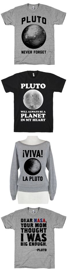 These shirts are perfect to celebrate the space mission to Pluto this summer.