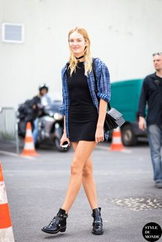 Model-Off-Duty Style: Get Candice Swanepoel's Grunge-Chic Look via @WhoWhatWear