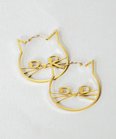 Lazy Oaf Kitty Hoop Earrings - Haha these are cute and remind me of my friend!