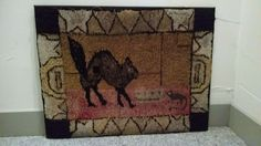 Antique Early American Hooked Rug   eBay