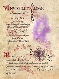 Magick Spells: Invisibility Cloak Charm #Spell.