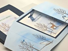 Winter Nature Scene Christmas Card Bath Salt by GwensHomemadeGifts