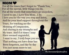 imágenes de thank you for being my mom quotes