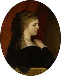 Eugene de Blaas (Austrian, 1843-1932) A Venetian lady