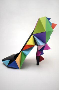weird colourful shoe