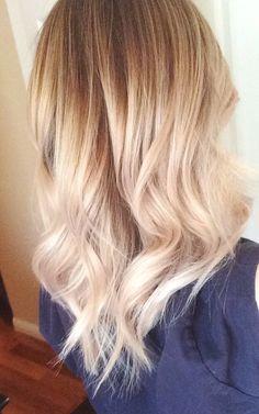 Blonde ombre short hair