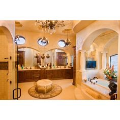 Luxury Bathrooms - mediterranean - bathroom - austin - by Jenkins... ❤ liked on Polyvore