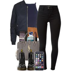 4:26:15 by codeineweeknds on Polyvore featuring Topshop, J Brand, Dr. Martens, Yves Saint Laurent and NARS Cosmetics