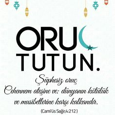 ORUÇ TUTUN  #oruç #ramazan #iftar #sahur #cehennem #ateş #dünya #ahiret  #ümmet  #müslüman #islam #hadis #ilmisuffa Ramadan, Iftar, Allah, Muslim, Amigurumi, Islam, Amigurumi Patterns