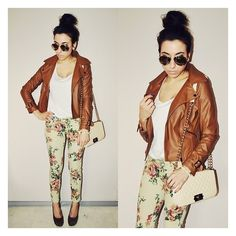 jacket Floral ❤ liked on Polyvore