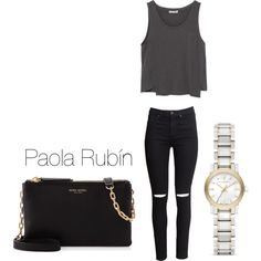 Untitled #29 by pao-xox on Polyvore featuring polyvore fashion style Zara H&M Henri Bendel Burberry