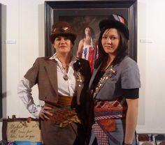 Suzanne Tamaki and her daughter modelling Tamaki's designs. Maori Designs, Blankets For Sale, Maori Art, Top Hats, Funky Fashion, Steampunk Fashion, Steam Punk, Victorian Era, Silk Ties