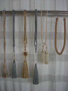 Braçadeiras com pingentes para cortinas | Redes Vitória