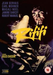 RIFIFI (12) 1955 FRANCE   DASSIN, JULES   DVD - £12.99 BU RAY - £12.99  Classic Noir about aging master thief who wants to retire after one last big robbery. DVD available from-  http://www.worldonlinecinema.com/Home/french-dvds