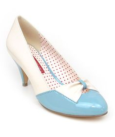 Dusty Blue & Cream Hanalee Pump