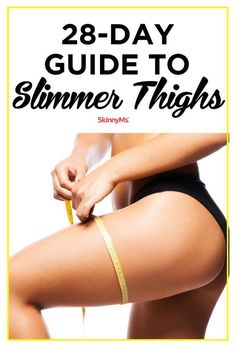 28-Day Guide to Slimmer Thighs Thigh Challenge, Workout Challenge, Plank Challenge, Workout Plans, Thin Thighs, Slimmer Thighs, Fitness Planner, Fitness Tips, Fitness Challenges