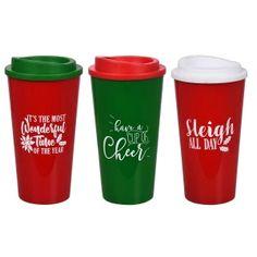 Christmas Printed Plastic Travel Mugs, 16 oz. Dollar Tree Finds, Dollar Tree Store, Dollar Stores, Christmas Tumblers, Christmas Mugs, Christmas Crafts, Christmas Travel, Holiday Travel, Starbucks Cup Art