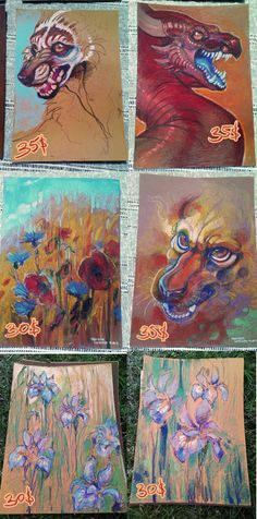 Traditional oil pastel works for sale! by LiLaiRa on deviantART