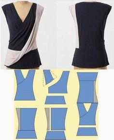 Moda e Dicas de Costura: BLUSA EM MALHA FÁCIL DE CORTAR