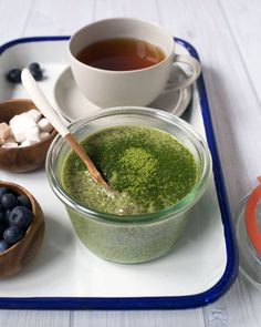 This Matcha (Green Tea) Chia Seed Pudding is what I'll have for breakfast  or a snack when I want something a little healthy. It does require a some  planning ahead since it takes at least three hours to have the chia seeds  gel together with the milk. I usually make it the night before and let it  sit overnight in the fridge.  You only need five ingredients:  1 cup almond milk (I used the deliciousAlmondMade. c/o) 3 tablespoons chia seeds 2 teaspoons honey 1/2 teaspoon matcha+ more for…