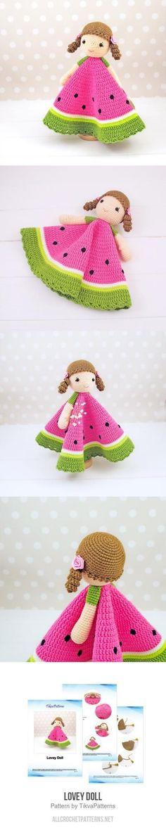 Lovey Doll crochet pattern Crochet Lovey, Crochet Doll Pattern, Crochet Dolls, Knit Crochet, Crochet Patterns, Crocheted Toys, Crochet Ideas, Crochet Crafts, Yarn Crafts