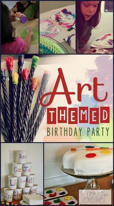 One of my all-time favorite kid's party themes, this art themed party was a huge hit. It was simple and frugal, but the kids still talk about it years later!