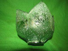 Spain art Glass Tulip bowl vase Home Decor Green