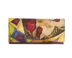 Ručne maľovaná peňaženka 7757 s motívom Abstrakt Painting, Art, Abstract, Art Background, Painting Art, Kunst, Paintings, Performing Arts, Painted Canvas
