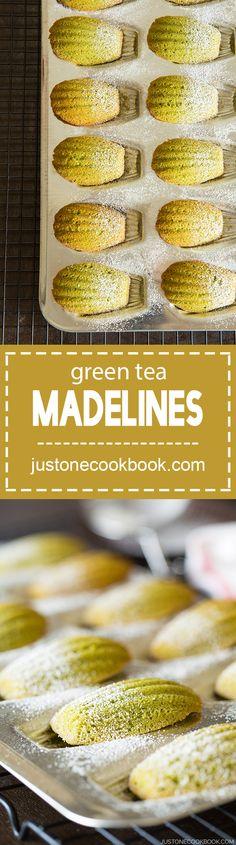Green tea madeline (抹茶マドレーヌ) | Easy Japanese Recipes at JustOneCookbook.com